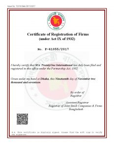 Certificate of Partnership Firm in Bangladesh